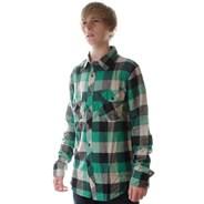 Skeptic Dark Green L/S Flannel Shirt