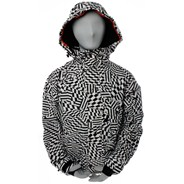 Grunt Varied New White Blow Up Insulated Snowboard Jacket