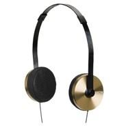 Apollo 3-Button Mic Gold/Black Headphones