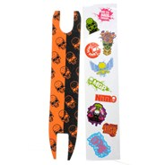 Madd Skulls Scooter Shock Tape - Orange/Black
