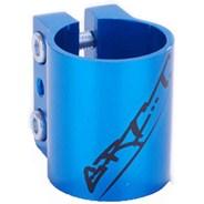 Triple Collar Clamp - Anodised Blue