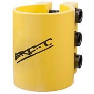 Triple Collar Clamp - Anodised Yellow