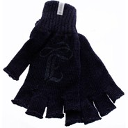 Braveheart Girl Fingerless Gloves - Dark Blue