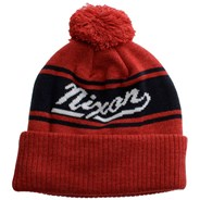 Bristol Bobble Beanie - Red Heather