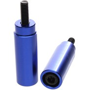 Slimline Scooter Pegs with Male Axle - Blue