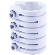 Quad Collar Scooter Snake Clamp - White (inc Shim)