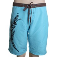 Ripped Board Shorts - Aqua