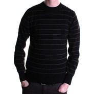 Rip Off Black/White Stripe Sweater