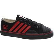 Duane Peters Lo Top 4-Stripe Black/Red Shoe