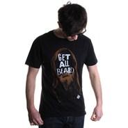 Get All Beard V-Ent S/S T-Shirt - Black