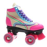 Bella Natural/Pink/Blue/Green/Purple Kids Quad Roller Skates
