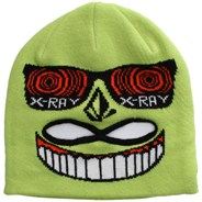 Strange Face Mask Youths Beanie - Lime