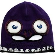 Strange Face Mask Youths Beanie - Purple