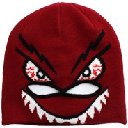 Strange Face Mask Youths Beanie - Red