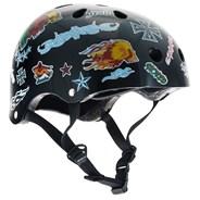 Essentials Black Sticker Helmet