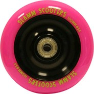Metal Core Scooter Wheel and Bearings - Pink