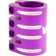 Quad Collar Scooter Clamp - Purple  (inc Shim)
