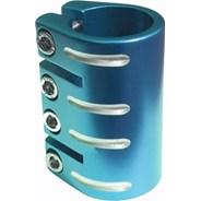 Quad Collar Scooter Clamp - Blue  (inc Shim)