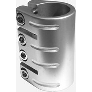 Quad Collar Scooter Clamp - Silver  (inc Shim)