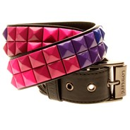 Duel Studded Belt - Black with Gradient