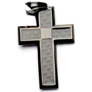 Tech Cross Black Pendant