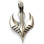 The Flyer Silver Matte Pendant