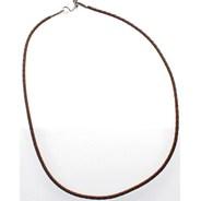 Brown Braided PVC Choker - 20in