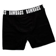 Bawbags Black Ribbed Boxer Shorts
