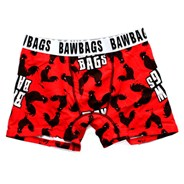 Bawbags Cock Black/Red Boxer Shorts