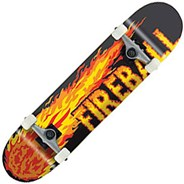 Orange Fireball Complete Skateboard