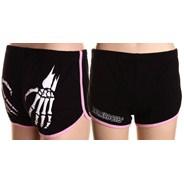 Rollerbones Booty Derby Shorts - Black/Pink
