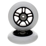 White/Black 100mm Scooter Wheels and Bearings