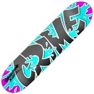 Burst Turquoise Skateboard Deck