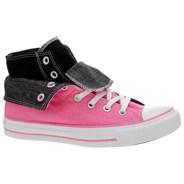 All Star Two Fold Pink/Black Hi Shoe 522218