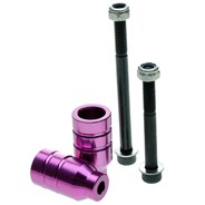 Alloy Scooter Pegs with Axles - Purple