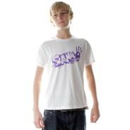 Splat Logo White Kids S/S Tee