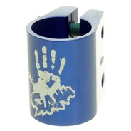 Oversized Double Collar Clamp - Anodised Blue