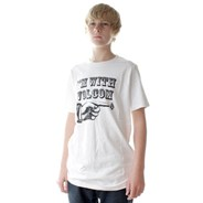 I'm With Volcom White S/S T-Shirt