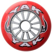 Ultra High Rebound Red/Silver 110mm/78a Scooter Wheels