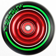Black Max Red Aluminium Hub Scooter Wheel with Bearing