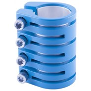 Quad Collar Scooter Snake Clamp - Blue  (inc Shim)