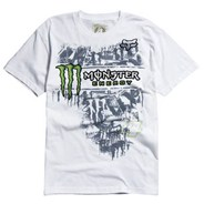 Monster RC Replica Tinsel Town S/S T-Shirt - White