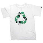 Recycle Sk8 White S/S T-Shirt
