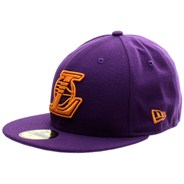Seasonal Contrast NBA Los Angeles Lakers New Era Cap - Deep Purple/Orange Popsic