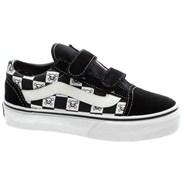 Old Skool V Kids (Checker Skulls) Black/True White Shoe D3ZVCD