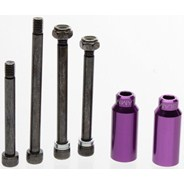 Scooter Cylinders Stunt Pegs inc. Axle - Purple