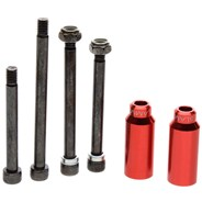 Scooter Cylinders Stunt Pegs inc. Axle - Red