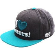 I Love Haters Snapback Cap - Charcoal Heather/Teal