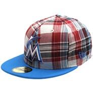 Plaid Pop Miami Marlins New Era Cap