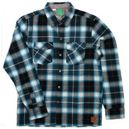 Not Bad Plaid L/S Shirt - Turquoise